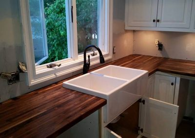 Custom Butcher Block and Farm Sink