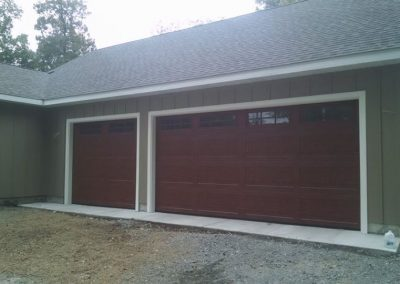 Front Side view- New addition and garage