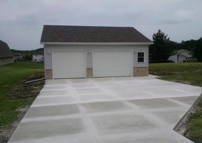 New Garage and Driveway